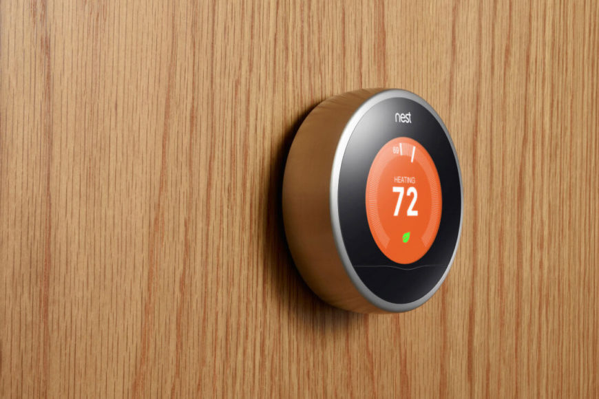 As we've mentioned before, the Nest learning thermostat is a uniquely adaptive device that will gradually make your home environment a better, more efficient, and comfortable place. The device learns from you and your habits, programming itself and adapting to the way you live. When you're away, it knows, and will not heat or cool the empty home. The device comes with a remote control for manual command, but learns over time to program itself.