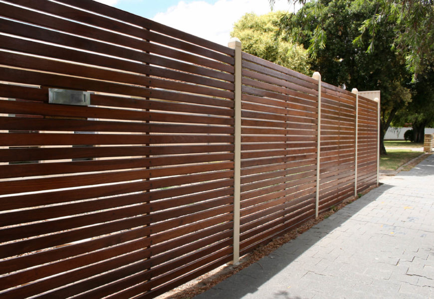 horizontal wood slat fence. Fine Horizontal This Mixed Wood Design Is Sleek And Stylish Intended Horizontal Wood Slat Fence Z
