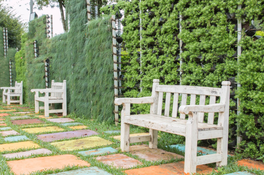 21 inspired privacy screens for residential neighborhoods for Creating privacy on patio