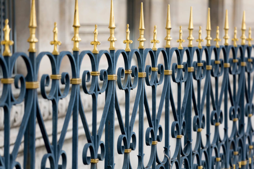 Wrought Iron Fence Design 32 elegant wrought iron fence ideas and designs coloring wrought iron can highlight the design and make the fencing really pop workwithnaturefo