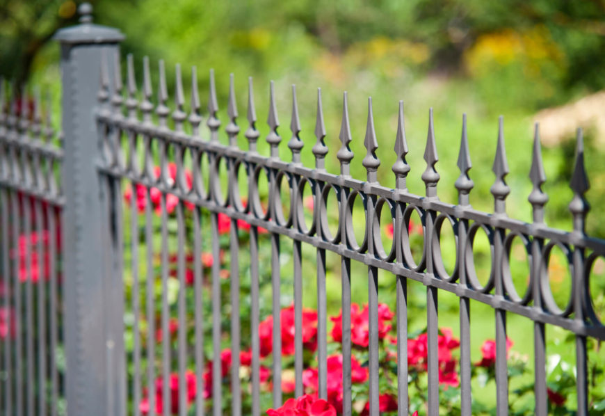 Wrought Iron Fence Design 32 elegant wrought iron fence ideas and designs a nice fence design accentuates this garden workwithnaturefo
