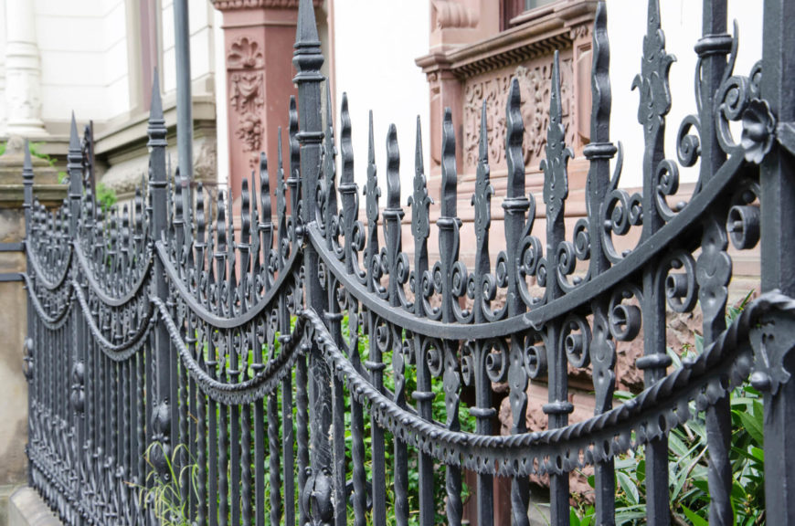 Wrought Iron Fence Design 32 elegant wrought iron fence ideas and designs a stunning take on the wrought iron fence with intricate details workwithnaturefo