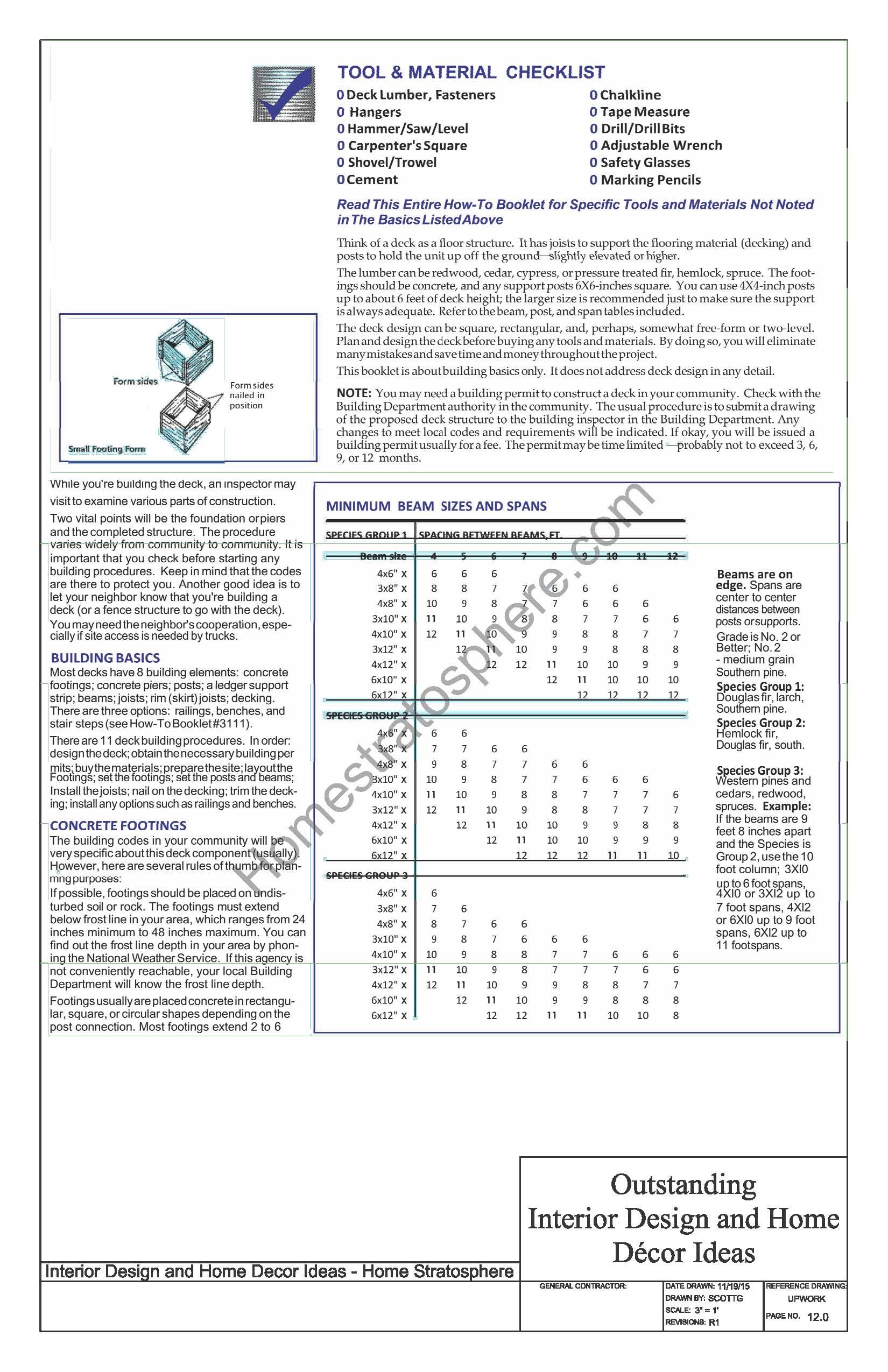 Deck Materials and Tools Checklist