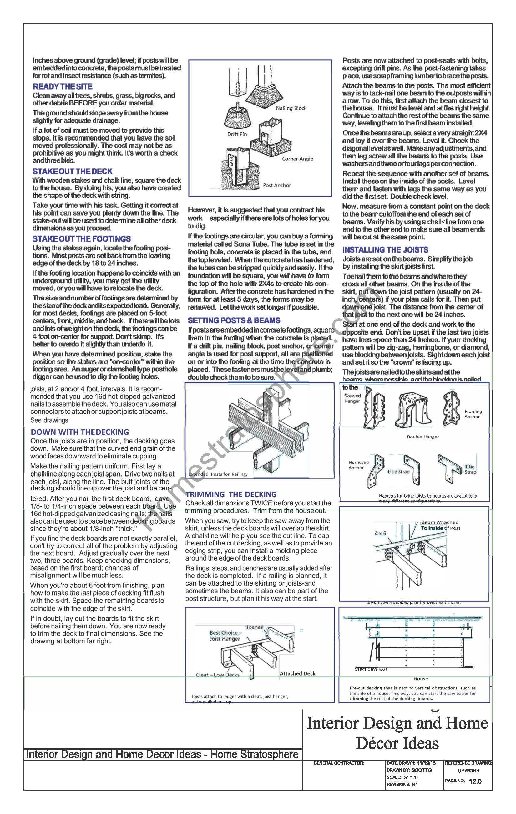Deck Materials and Tools Checklist page 2
