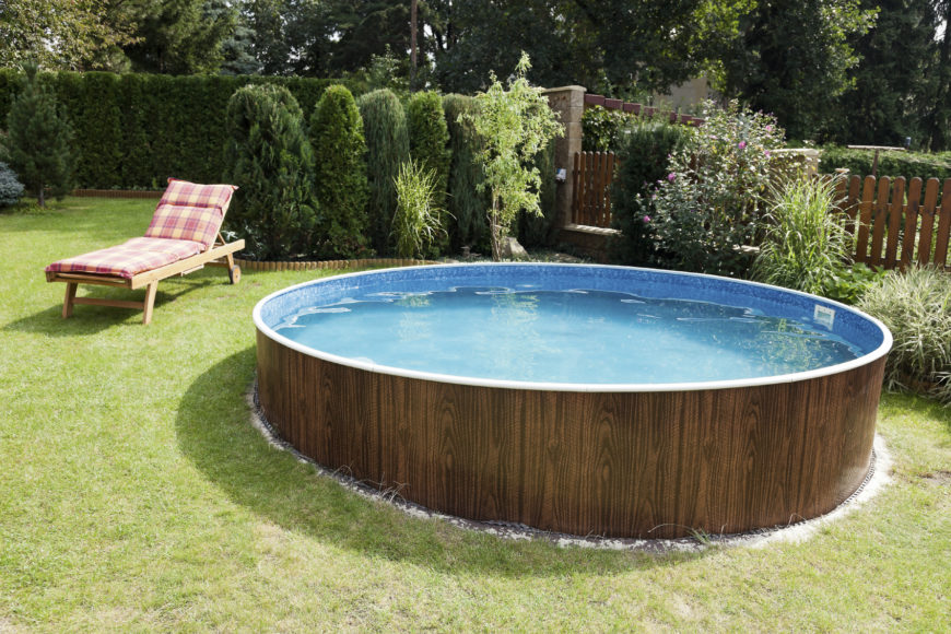 14 great above ground swimming pool ideas. Black Bedroom Furniture Sets. Home Design Ideas