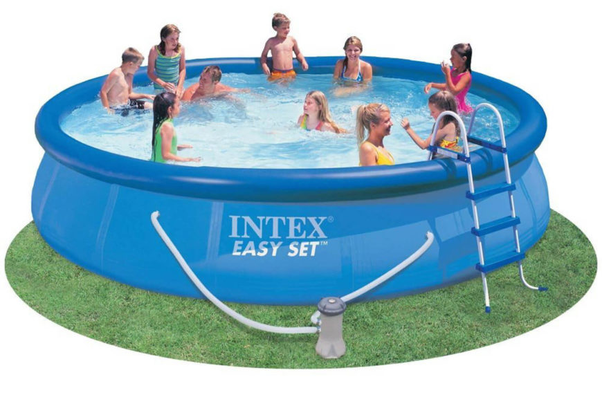 This Is A Very Large Version Of An Inflatable Pool. This Can Fit An Entire