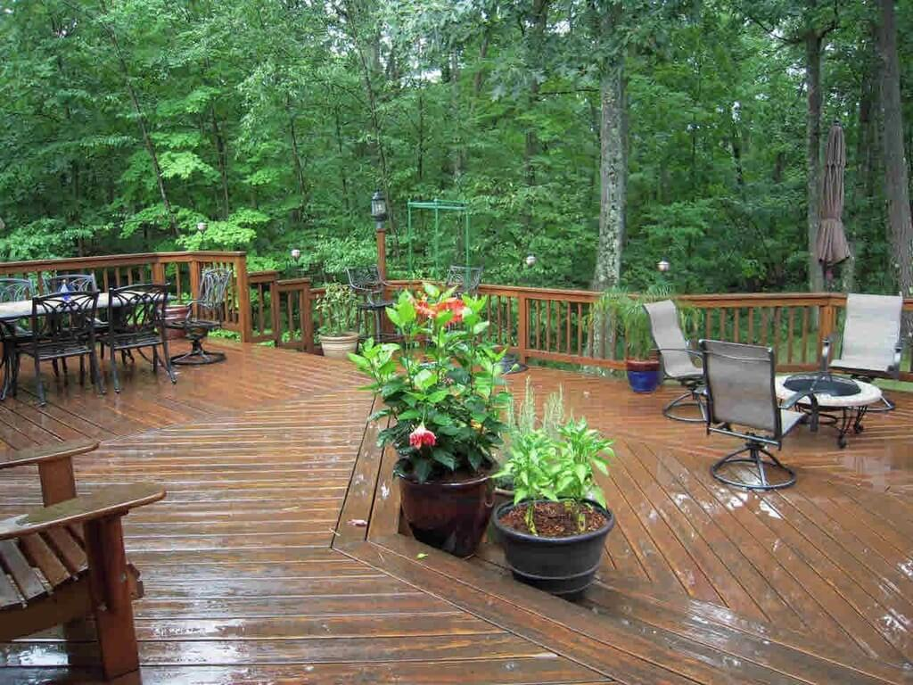 Picture Of 2 Level Wood Deck