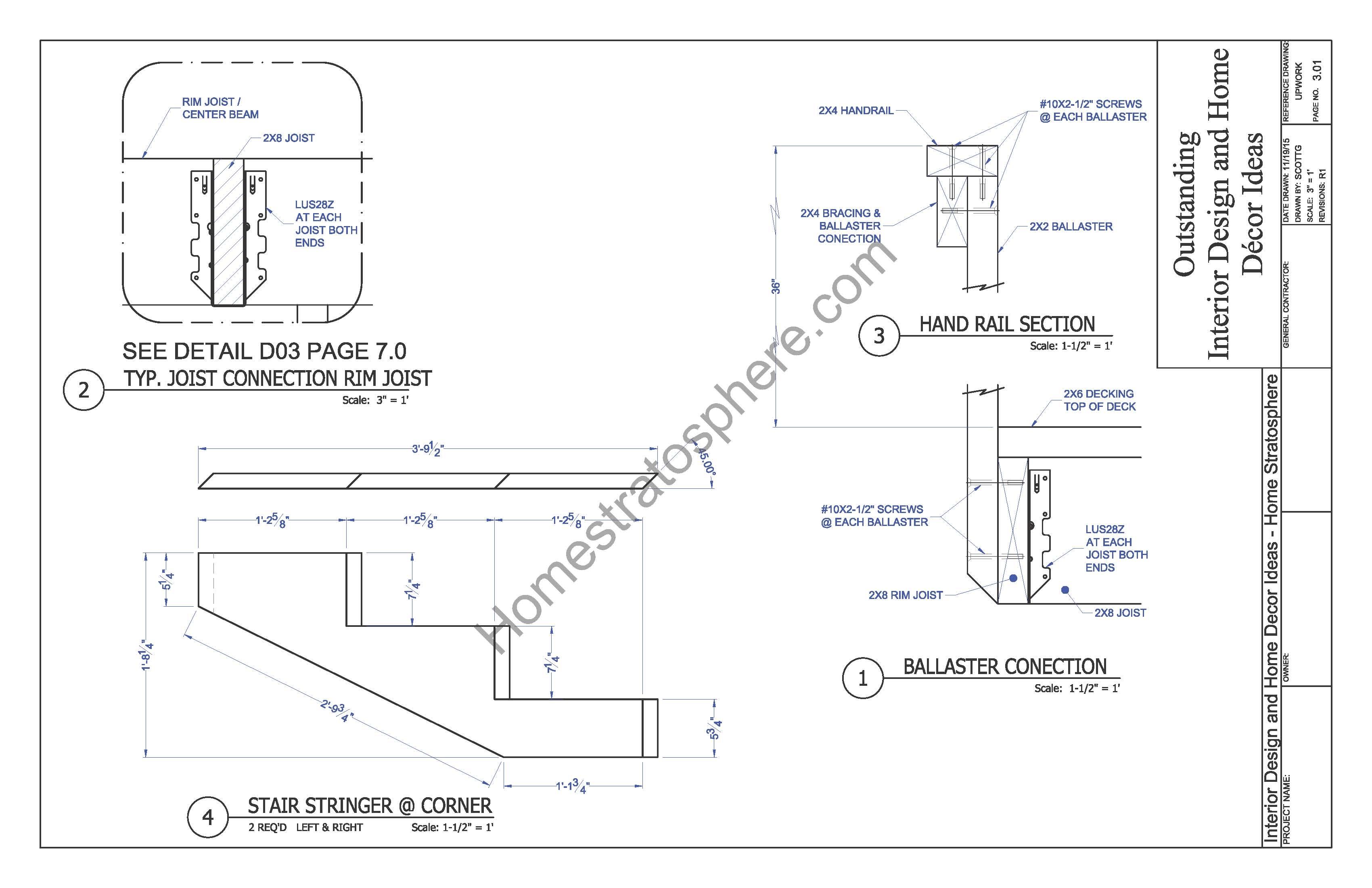 Deck Railing Plan
