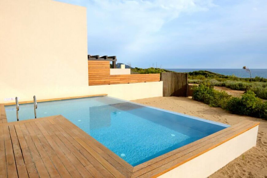 Lovely This Small True L Design With An Infinity Edge Is A Perfect Personal Pool  For A