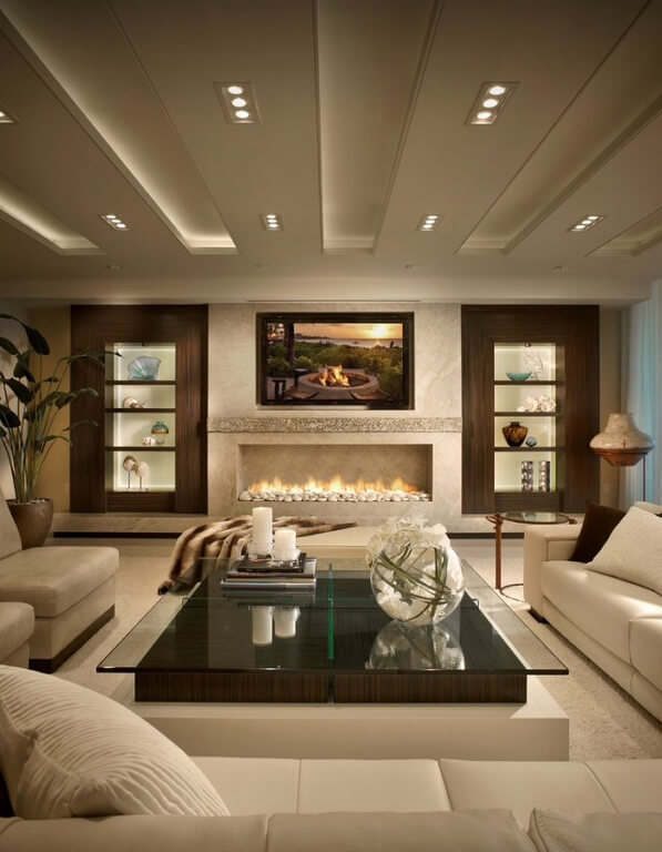 27 beautiful living room shelveshome stratosphere - Shelving Ideas For Living Room