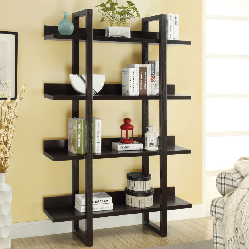 27 beautiful living room shelves Where to put a bookcase in a room