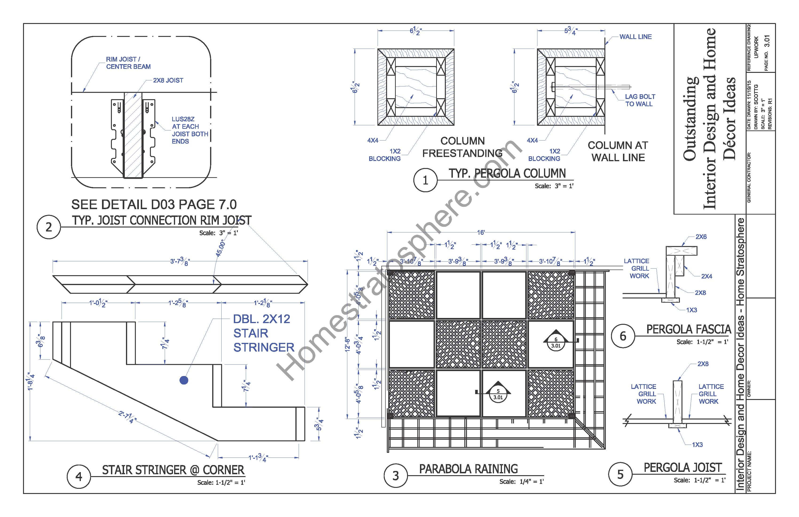 Free deck plan with pergola download full pdf blueprint for Free deck plans online
