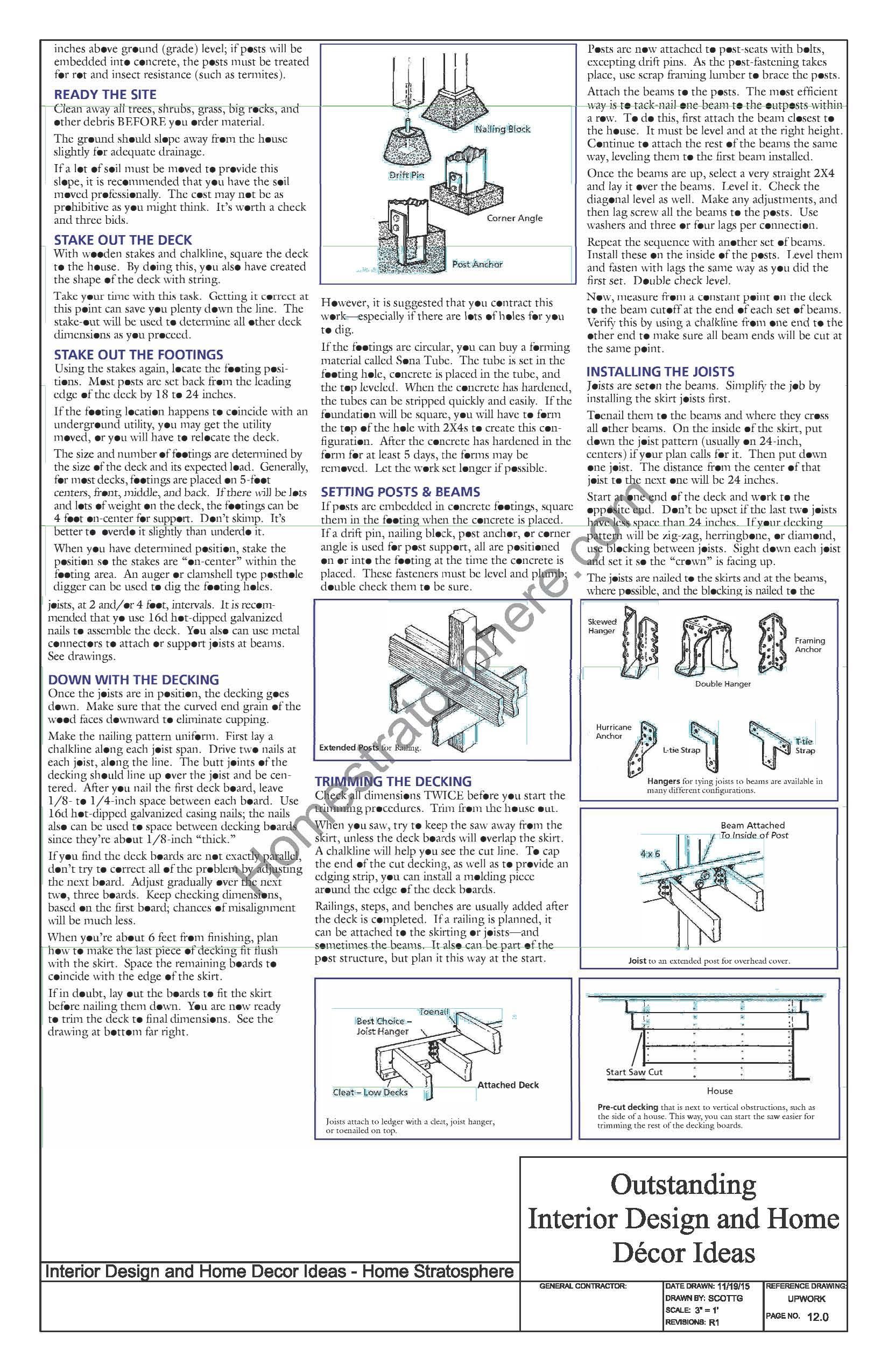 Pergola Deck Tools and Materials (Continued)