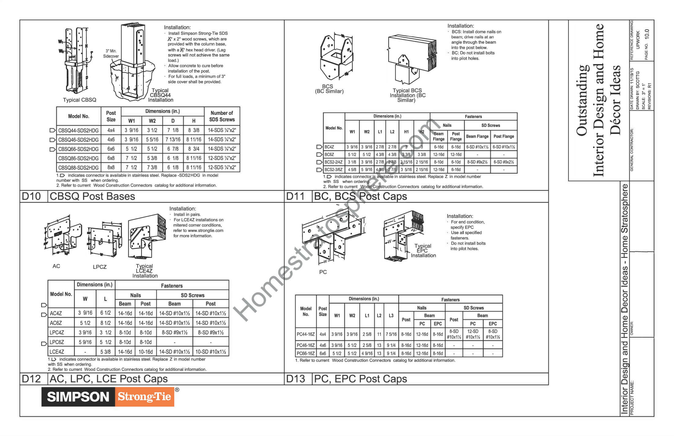 General Notes, Materials and Checklists for Deck Design 4