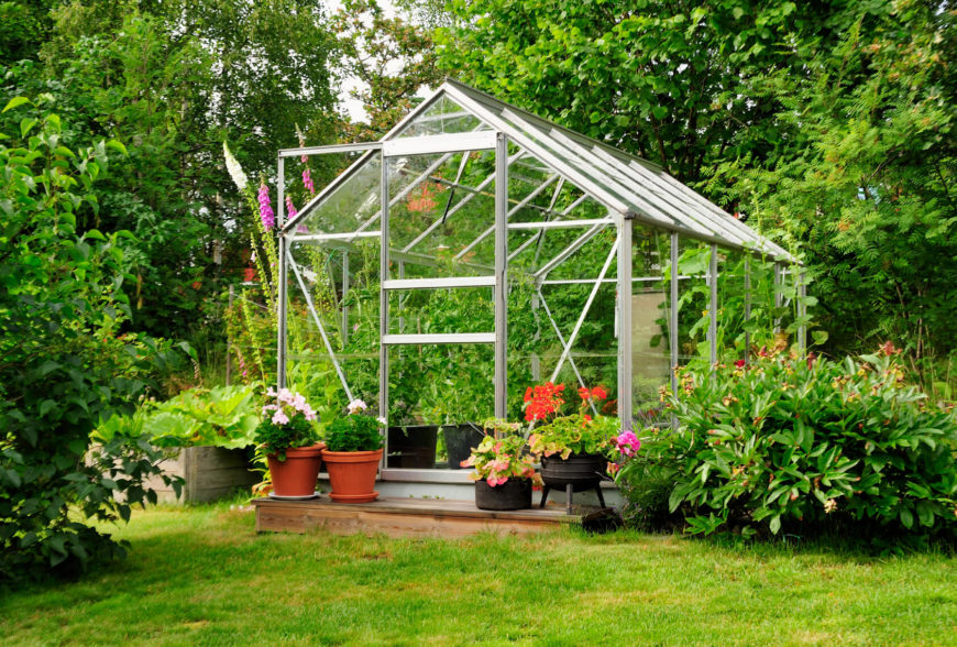 This tall greenhouse is equipped with a misting system. This is perfect for evenly watering your plants with little effort.