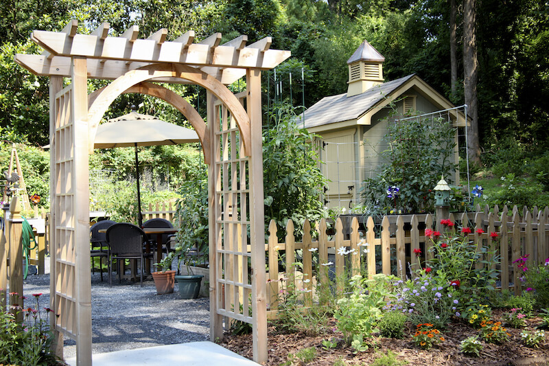 31 backyard arbor designs and ideas for Arche de jardin en bois