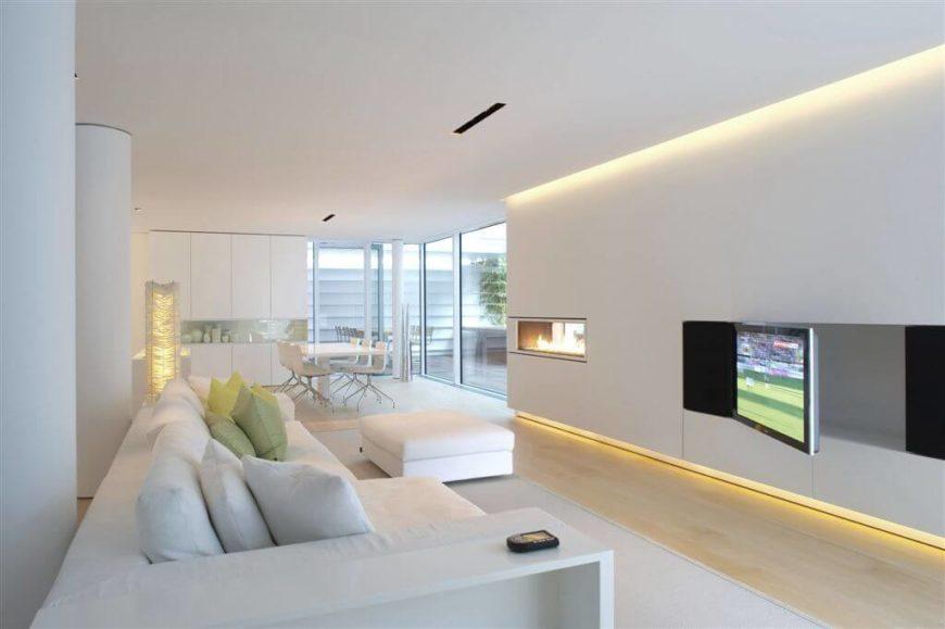 Lighting Basement Washroom Stairs: 40 Bright Living Room Lighting Ideas