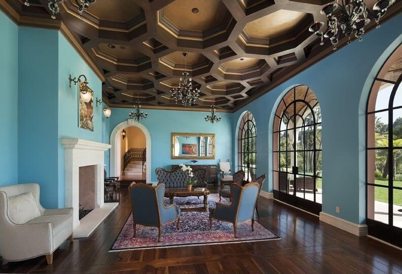 curved ceiling paint ideas - 60 Fantastic Living Room Ceiling Ideas