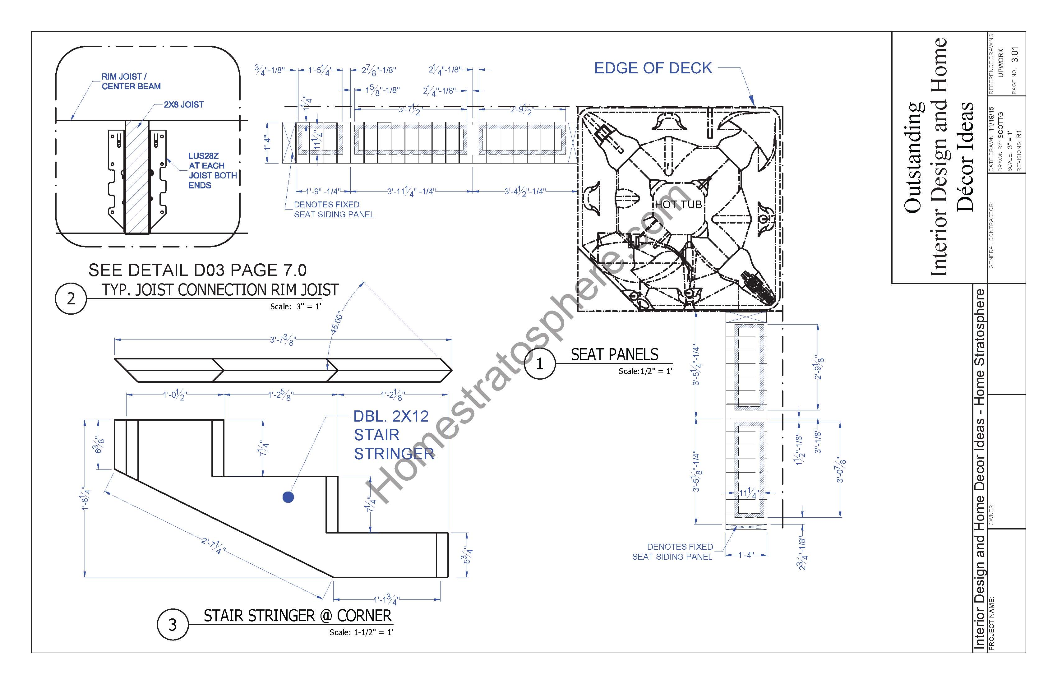 Hot tub deck design plan free pdf download for Free blueprint designer
