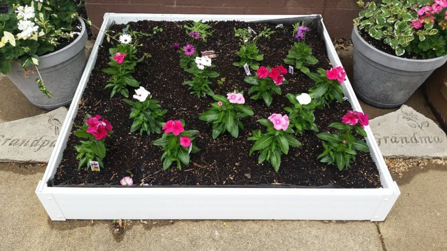 A small portable plastic flower bed is perfect if you are limited on space or time to oversee the construction of a more permanent flowerbed. And if you are looking to grow a few smaller flowers this kind of bed is perfect for you.