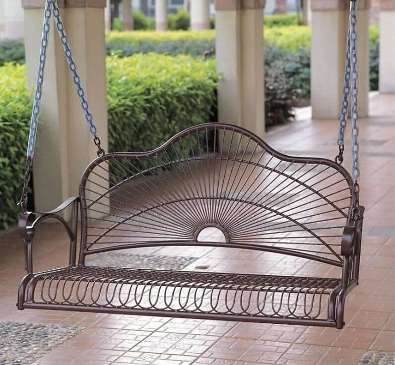 in swings stylish the wood color med for most home art porch intended design swing hanging wooden posters