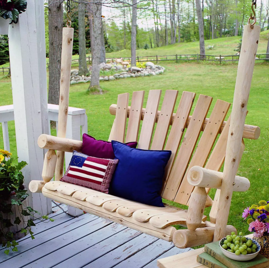 35 swingin 39 backyard swing ideas for Log swing plans
