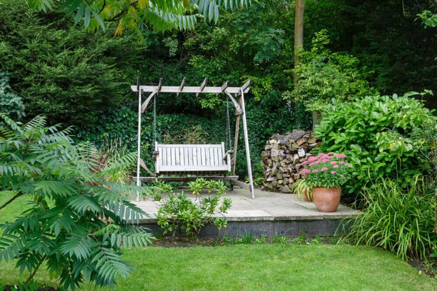garden swing designs. Because they are hung  swings need to be on relatively flat ground otherwise the 35 Swingin Backyard Swing Ideas
