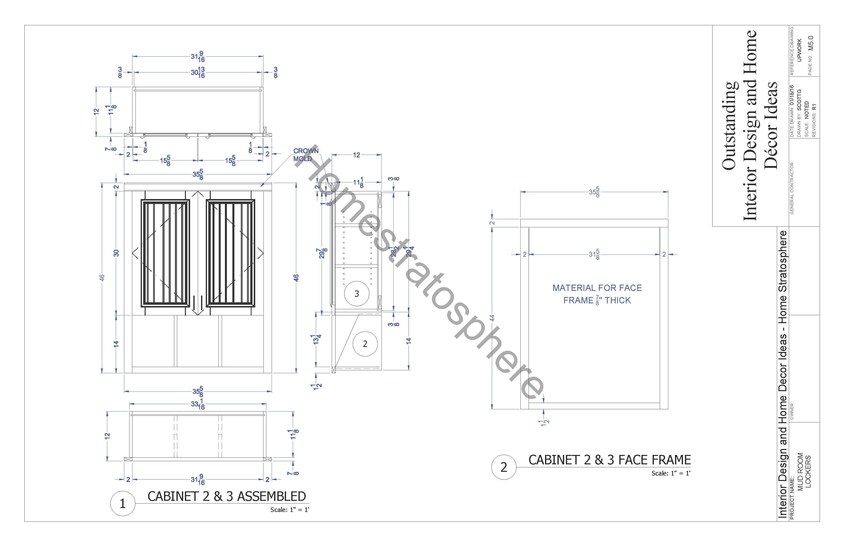 Mudroom Locker with Storage Bench Plan (PDF Blueprint) - Home ... - ^