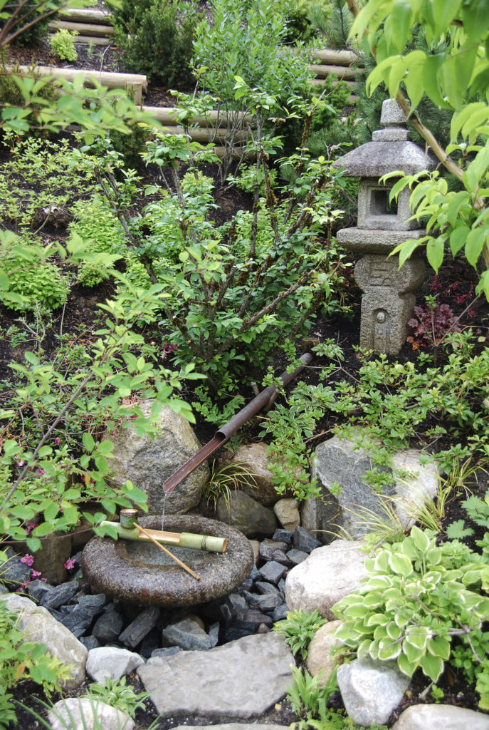 Rocks And Stones Are Often Used In Asian Inspired Landscaping. Here We Can  See A