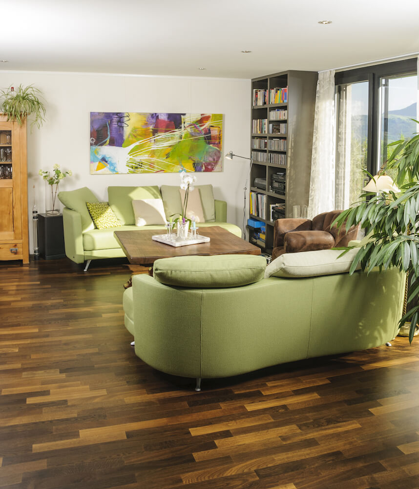 Short, Narrow Planks In Various Shades Add To The Natural, Earthy Color  Palette Of