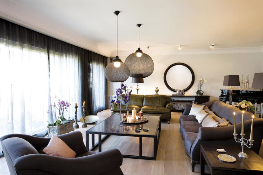 Pendant Lighting Above A Coffee Table Is A Great Way To Create A Focal  Point In