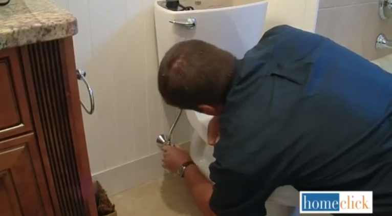 Now you can reconnect the water supply line and then turn the valve on. Now your new toilet has running water!