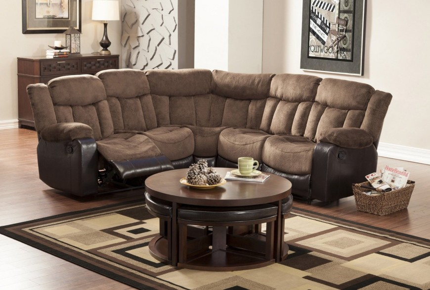 High Quality Homelegance 9605 Vera Reclining Sectional Sofa