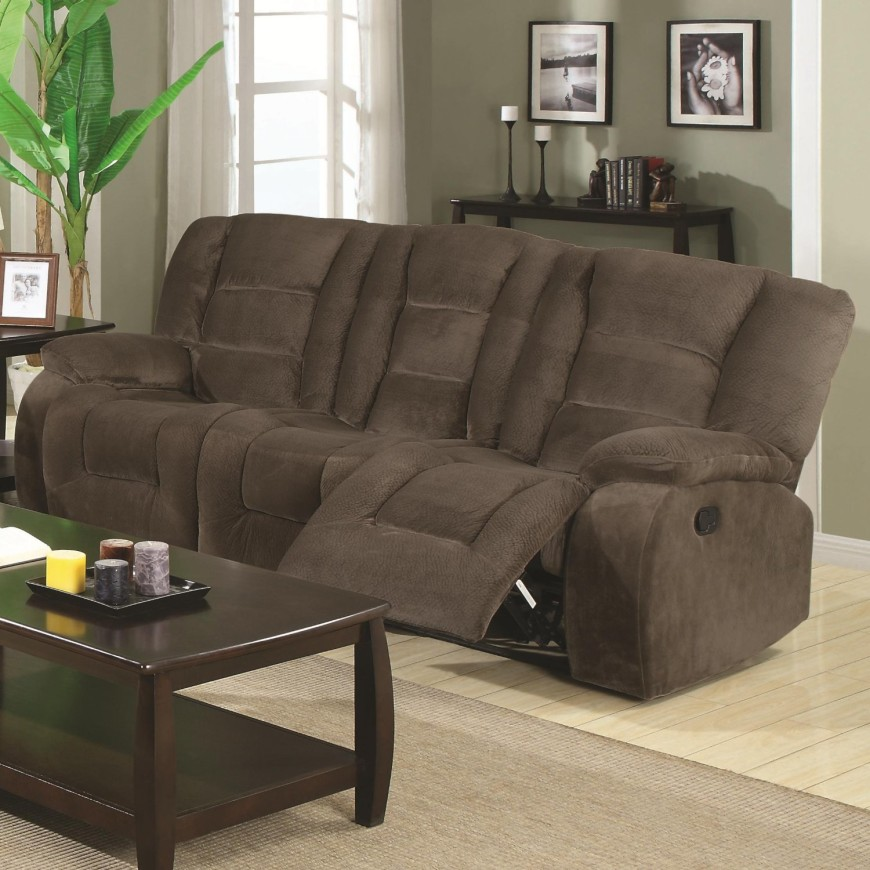 9brown-suede-small-recliner-sofa