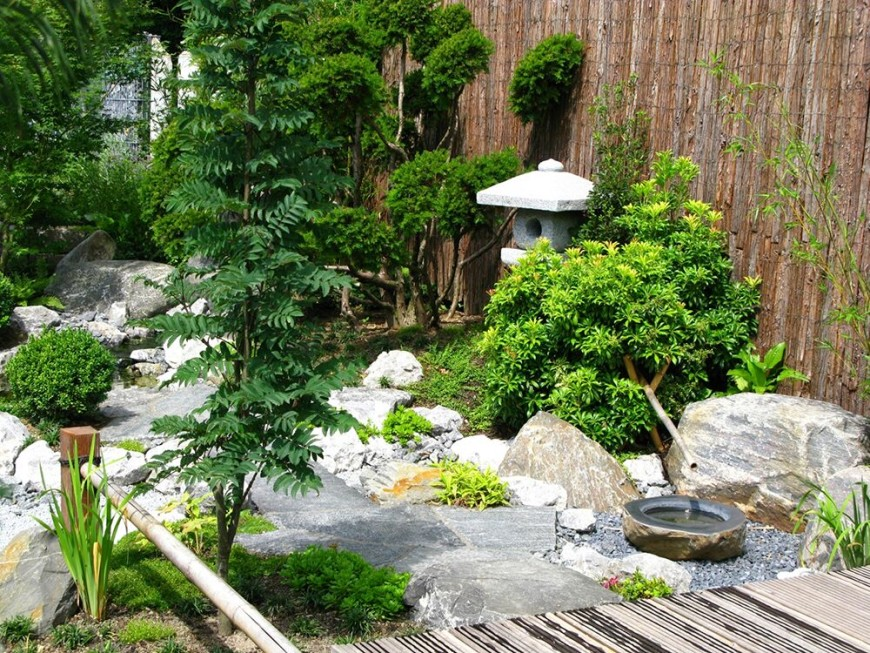 Beautiful And Tranquil Japanese Garden.