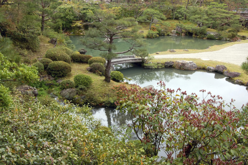 Here is a great shot of a Japanese style garden that uses a great deal of negative space to build its profile. The spirit of this space is open and the garden reflects that.