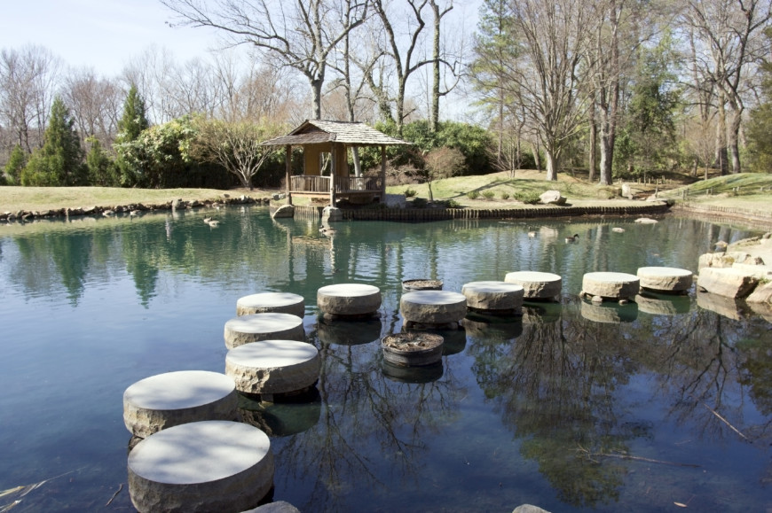 Stepping stones are great for crossing water as well. They are stylish and give a great appeal.