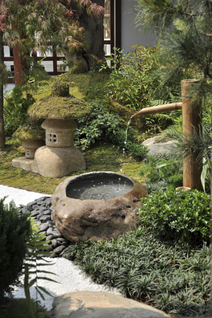 Bamboo fountains are also a great addition to Japanese gardens. They  provide a strong Japanese