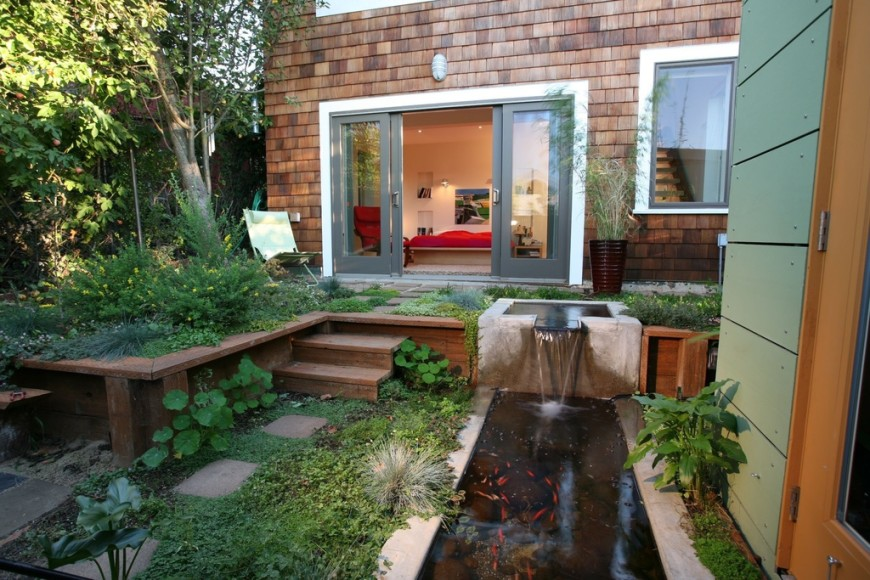 The Use Of Space And Water In This Garden Are Line With Japanese Design
