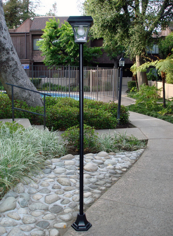 Tall lanterns are ideal for lining a path or driveway and guide people through the space. They are perfect for bridging the gap of light from one well-lit space to another. They can cast enough light to make things visible and don't need to be too close together to be effective.