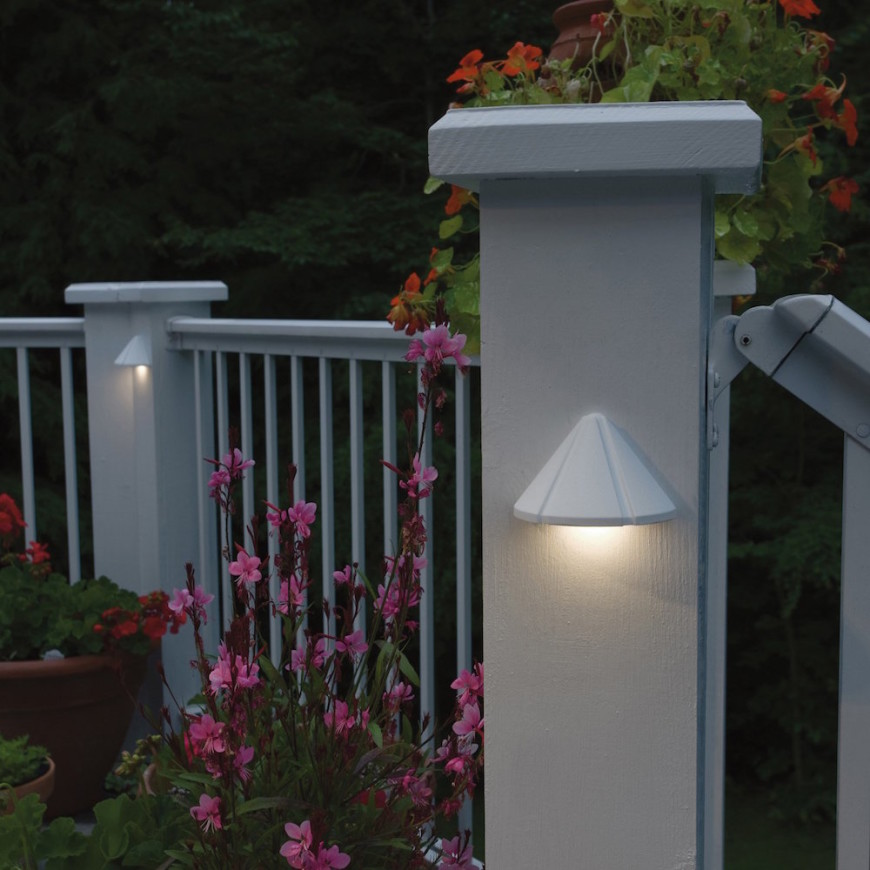 Sconce lighting on pillars and poles can highlight your fence area. If you have plants around your fences and you don't others to tread on them, these lights can also make sure people will be able to see to avoid them.