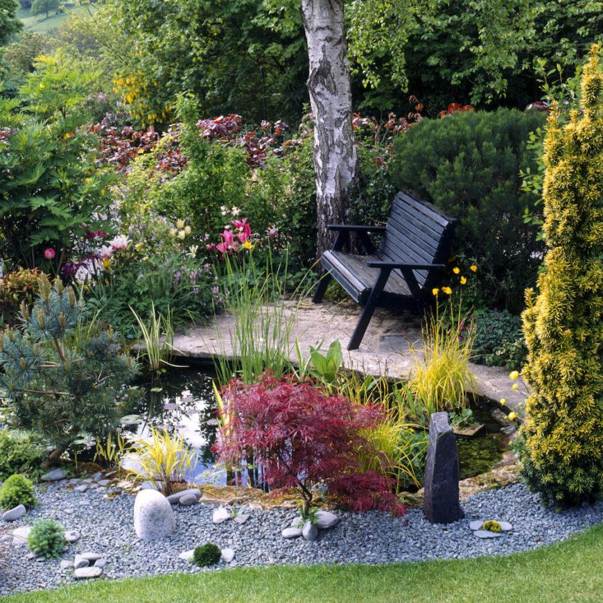 39 backyard bench ideas to take a load off for Garden getaway designs