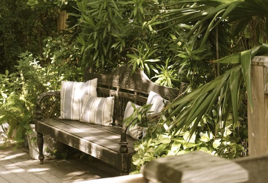 39 backyard bench ideas to take a load off. Black Bedroom Furniture Sets. Home Design Ideas