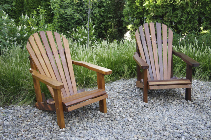 Here Are A Couple Of Adirondack Chairs That Have A Natural Wooden Appeal. Adirondack  Chairs