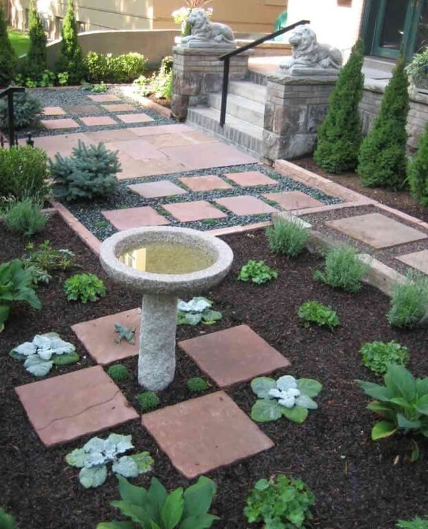 46 splashy bird baths this bird baths stone construction has a great deal of texture to offer a space workwithnaturefo