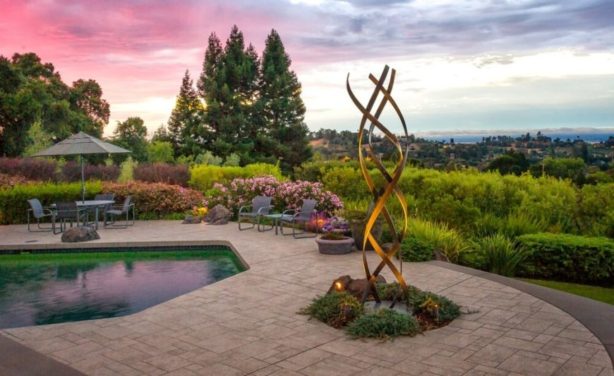 One way to make sure that your sculpture gets the attention it deserves at night is to light it up. Placing spot lights on your sculptures will highlight their importance in your yard's design.
