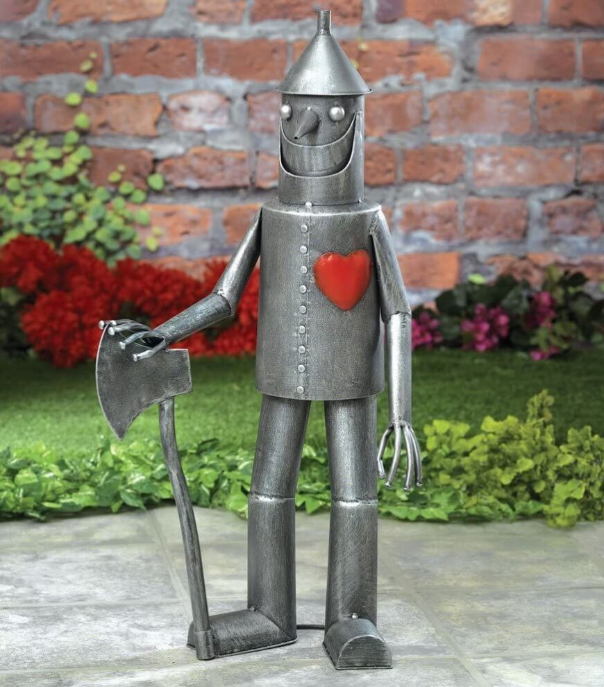 You can even show your love for your favorite stories with the sculptures in your yard. If you have a deep passion for The Wizard of Oz you can express that love with this adorable Tin Man sculpture.