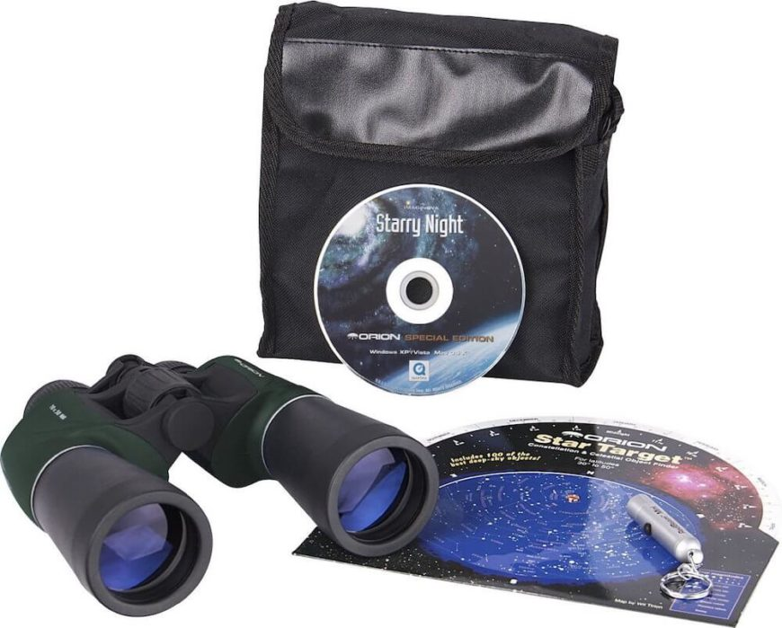 There are many products that can help you navigate the starry sky. There are so many educational supplies catering to the beginner. You don't even need to invest in a telescope right away. Simple binoculars can help spark an interest.