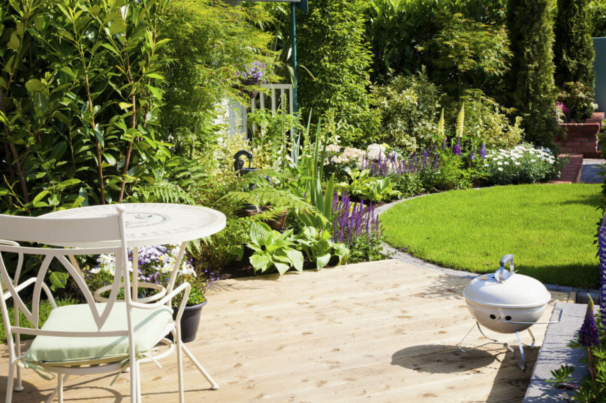 Small Gardens Can Be Used To Punctuate Design. If You Have A Well Cared For