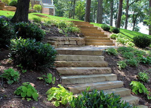 Superbe These Stone Steps Are Well Carved And Simple. There Is No Need For Fancy  Adornment Traditional Landscape ...